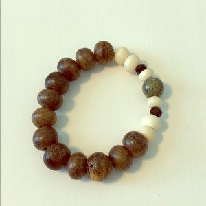 Natural Bone Bead Bracelet